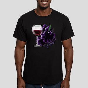 vino_10by10 Men's Fitted T-Shirt (dark)