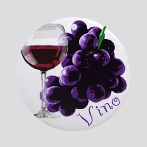 vino_10by10 Round Ornament