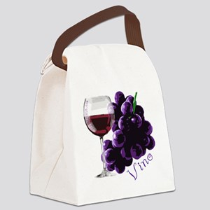 vino_10by10 Canvas Lunch Bag