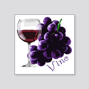"vino_10by10 Square Sticker 3"" x 3"""