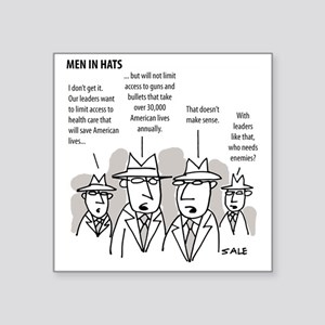"MEN_Health Care_Guns_Leader Square Sticker 3"" x 3"""