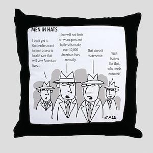 MEN_Health Care_Guns_Leaders Throw Pillow