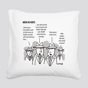 MEN_Health Care_Guns_Leaders Square Canvas Pillow