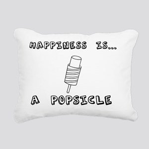 Happiness is popsicle Rectangular Canvas Pillow