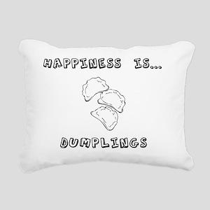 Happiness is dumplings Rectangular Canvas Pillow