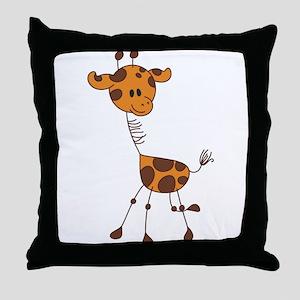 Cartoon Giraffe Throw Pillow