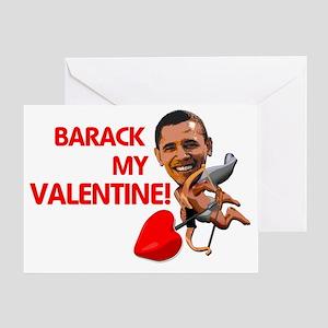 Barrack Valentine 1 copy Greeting Card