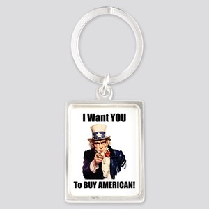 uncle sam american Portrait Keychain
