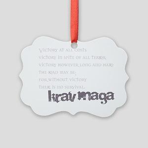 KravMaga - Victory  Survival Picture Ornament
