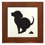 Doggy Accident Framed Tile
