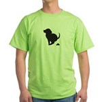 Doggy Accident Green T-Shirt