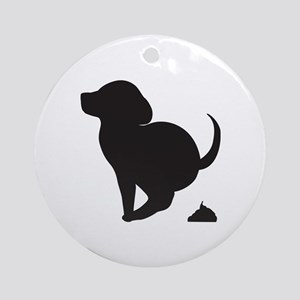 Doggy Accident Ornament (Round)