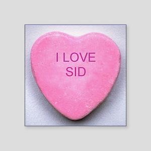 "HEART SID Square Sticker 3"" x 3"""