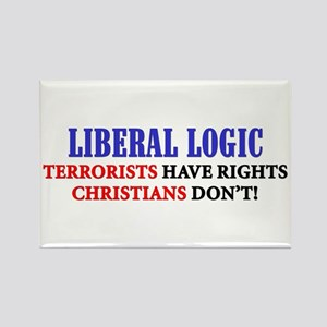 """Liberal Logic: Terrorists Have Rights"" Magnet"