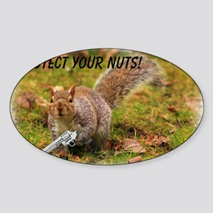 Protect Your Nuts 4000-400 Sticker (Oval)