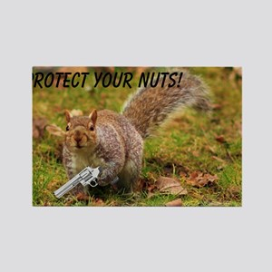 Protect Your Nuts 4000-400 Rectangle Magnet