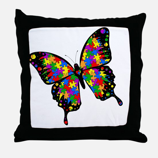 autismbutterfly-rotated Throw Pillow