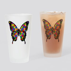 autismbutterfly6inch Drinking Glass