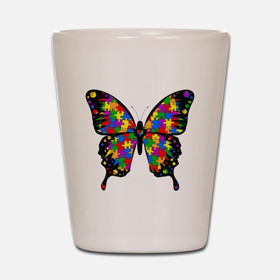 autismbutterfly6inch Shot Glass