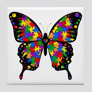 autismbutterfly6inch Tile Coaster