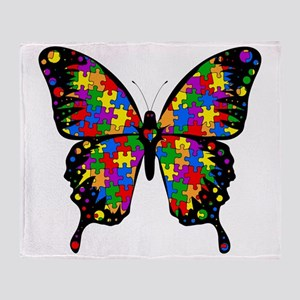 autismbutterfly6inch Throw Blanket