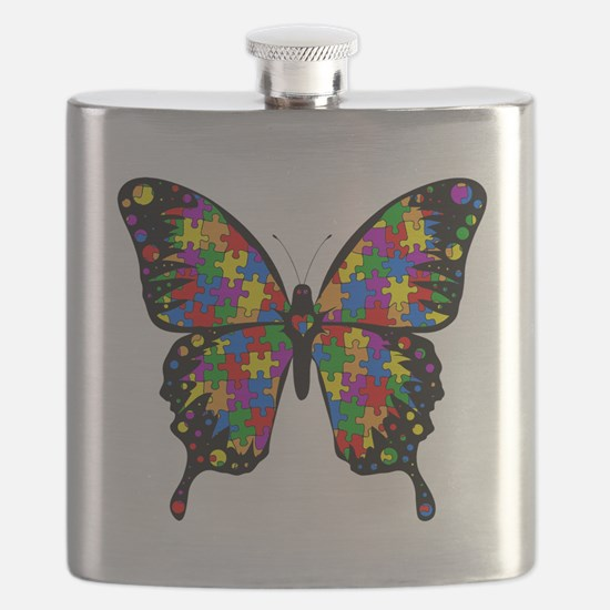 autismbutterfly6inch Flask