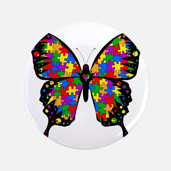 """autismbutterfly6inch 3.5"""" Button"""