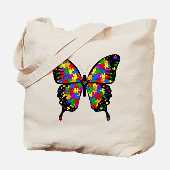 autismbutterfly6inch Tote Bag