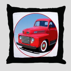 1948-50 F-1-C10trans Throw Pillow