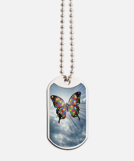 autismbutterfly - sky journal Dog Tags