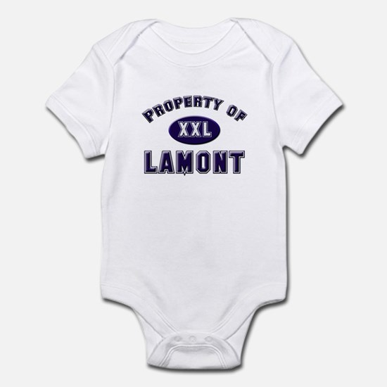 Property of lamont Infant Bodysuit