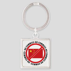slash commies Square Keychain