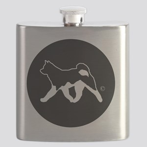 Rakki-Inu Akita Rescue (embroidery) Flask
