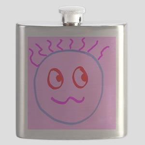 Pink Cute Goofball Gee Designer Flask