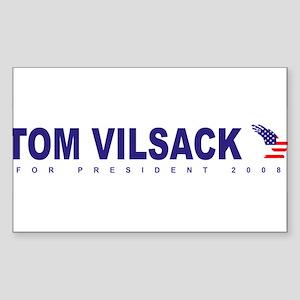 Tom Vilsack for president Rectangle Sticker