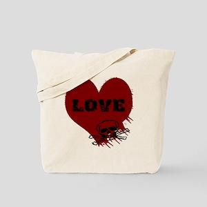 love_skull_dark Tote Bag