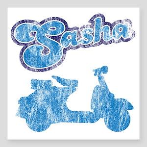"sasha Square Car Magnet 3"" x 3"""