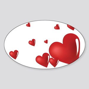 heart04 Sticker (Oval)