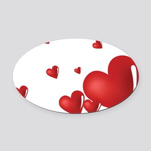 heart04 Oval Car Magnet