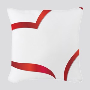 heart03 Woven Throw Pillow