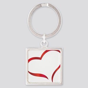 heart03 Square Keychain