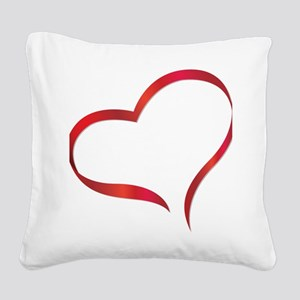 heart03 Square Canvas Pillow