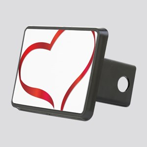 heart03 Rectangular Hitch Cover
