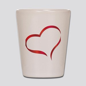 heart03 Shot Glass