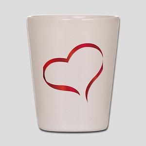 heart03 Shot Glass