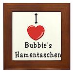 Love Bubbie's Hamentaschen Framed Tile