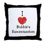 Love Bubbie's Hamentaschen Throw Pillow