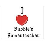 Love Bubbie's Hamentaschen Small Poster