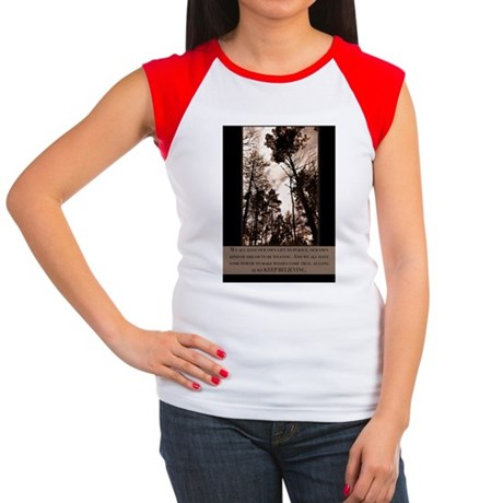 Keep Believing Women's Cap Sleeve T-Shirt
