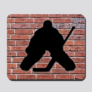 Hockey Goalie Brick Wall Mousepad